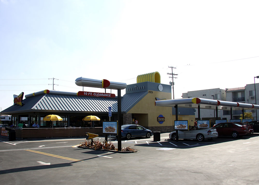 Sonic drive in parking lot spaces los angeles design for Lax long term parking lot