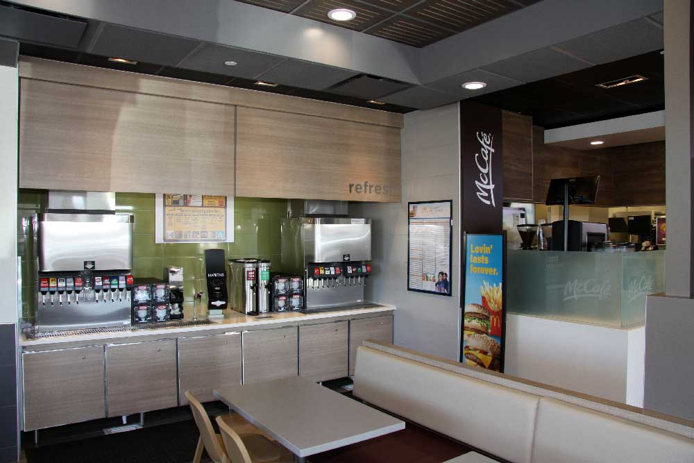 Mcdonalds Beverages Interior Fountain Valley Los Angeles Design Engineering Firm Fiedler Group