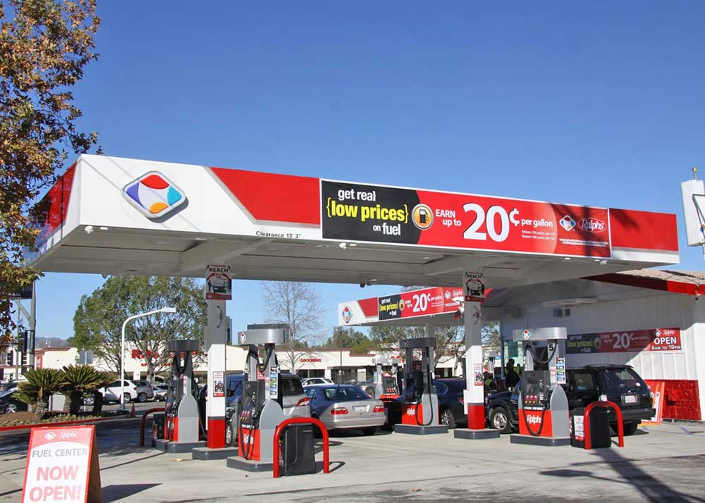 ralphs woodland hills gas station exterior los angeles design
