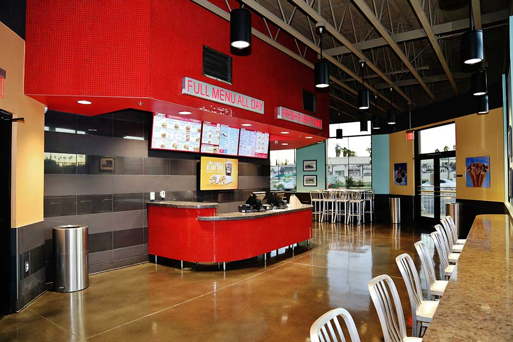 sonic drive  riverside interior counter los angeles design engineering firm fiedler group
